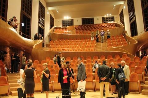 The Museo del Violino s Auditorium Giovanni_Arvedi, seen from the stage